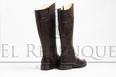 Botas caña alta de cuero marrón Wordpress, Knee Boots, Shoes, Fashion, Knee Boot, Brown Leather, Loafers, Going Gray, Moda
