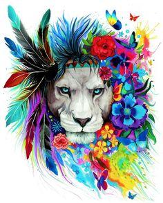 Premium King of Lions Girls Tank: