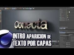 Tutorial Cinema 4D // Intro aparición de texto por capas (By: Ildefonso Segura) - YouTube