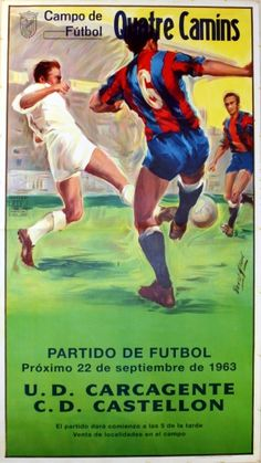 Campo de Futbol, 1963 - original vintage poster listed on AntikBar.co.uk