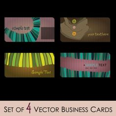 fashion illustrator business card 01 vector