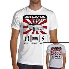 Eat Sleep Nissan Sylvia S15 Jdm TShirt 100 Soft Cotton by KaRally, $19.95