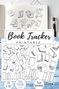 My hand-drawn book doodles are now available as a printable reading list. Track your books for the year! I already have my own stack of TBR books waiting and can't wait to doodle in the titles of each finished read. Two versions of the Book Tracker printable are available (for different reading goals) and the A4 & A5 files fit with most bullet journals and planners.