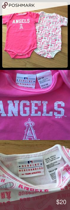 ⚾️Angels Baseball Baby Onesie Bundle⚾️ Size 12 M my daughter wore these once then I washed and put into storage. Like new. Offers welcome! BUNDLE & SAVE angels Los Angeles baseball Anaheim genuine merchandise team athletics One Pieces Bodysuits