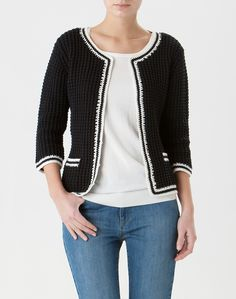 Inspiration for a cardigan/jacket from one of the numerous Chanel style jacket patterns in Burda Style magazine.