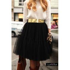 Lunicite ČIERNE LEKNO – exkluzívna nadýchaná sukňa – čierna 83d1c05695