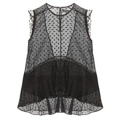 Isabel Marant - Vatelle silk organza top - Dainty polka dots and a seductive sheer quality to the fabric make Isabel Marant's 'Vatelle' top stand out from the crowd. Sleeveless, sleek and super sexy, this will look perfect with super-skinny trousers and heels. seen @ www.mytheresa.com