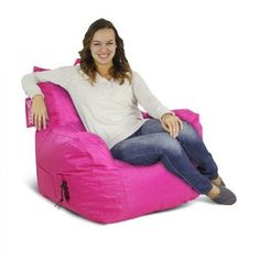 American Furniture Alliance Jr. Fx Big Maxx Mega Bean Bag, Pink
