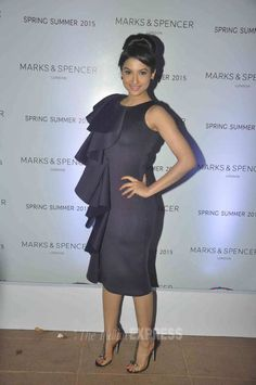 Gauahar (Gauhar) Khan at the launch of Marks & Spencer's spring/summer collection. #Bollywood #Fashion #Style #Beauty