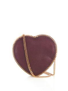 Heart Falabella faux-suede cross-body bag | Stella McCartney | MATCHESFASHION.COM UK
