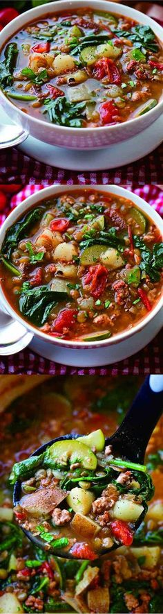 This hearty tuscan lentil soup is packed full of veggies and protein! It's a breeze to make and can easily …