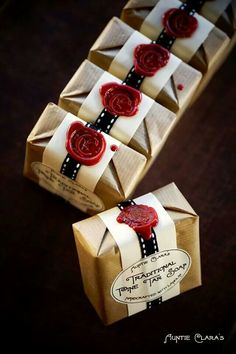 Gorgeous Soap Packaging - love the wax seals!