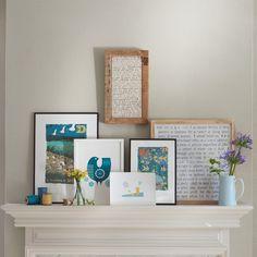 Living room mantelpiece display