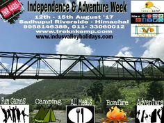 Independence Week Adventure Tour !!  #AdventureActivities #Trekking #Camping #FunGames !!