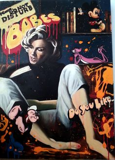 """Babes"" - oil and acrylics - 50x70 cm - Marilyn Monroe"