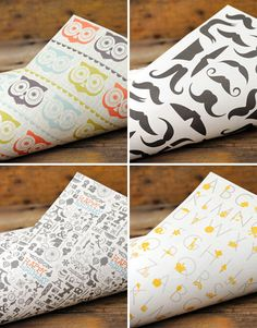 Ruff House Art Wrapping Paper seen on Paper Crave. Such CUTE Wrapping paper!! :)