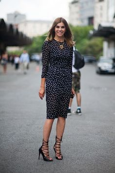 Carine Roitfeld. For the first time, I have to say the shoes are better than the polka dots.