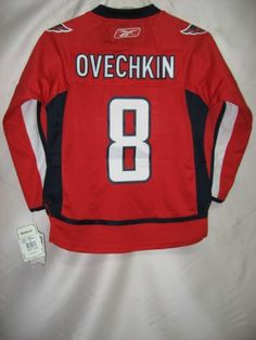Alexander Ovechkin Washington Capitals Premier Red NHL Youth Jersey $74.99