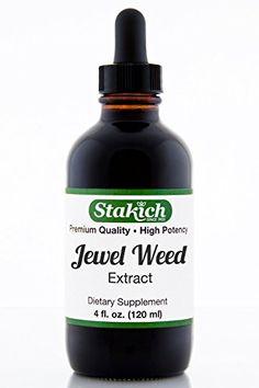 Stakich Jewel Weed (Impatiens balsamina) 4 oz Liquid Extract - Top Quality