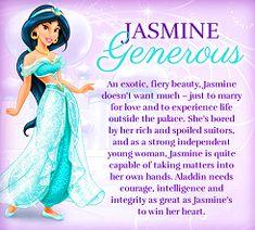 Princess Jasmine is one of the Disney Princesses. Jasmine's love interest is Aladdin. Film Disney, Disney Wiki, Disney Nerd, Disney Girls, Disney Love, Disney Magic, Disney Stuff, Punk Disney, Disney Princess Facts