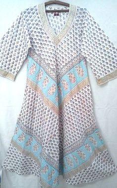 Rare Anokhi Citrus Paisley Floral Block Print Indian Cotton Boho Maxi Dress