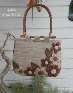 Ulla's Quilt World: Patchwork bag - flowers