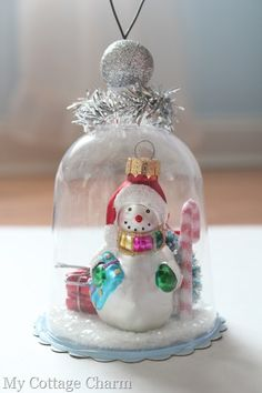 Christmas cloche ornament