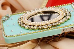 Rhinestone Case with Mirror for iPhone 5 & 5S [FEIC0084] - PersunMall.com