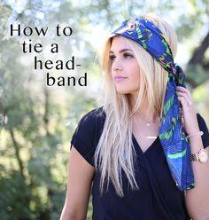 How to tie a headband