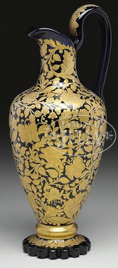 MOSER DECORATED EWER.