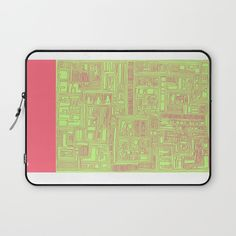 Circuit Board_Green/Red Laptop Sleeve