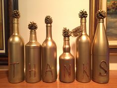 DIY Thanksgiving Project with recycled bottles