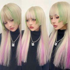 Cute Hair Colors, Hair Dye Colors, Hair Inspo, Hair Inspiration, Hair Reference, Aesthetic Hair, Dream Hair, Hair Designs, Pretty Hairstyles