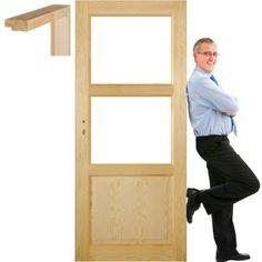 Drzwi sosnowe drewniane ościeżnica STOLGEN TM3 60
