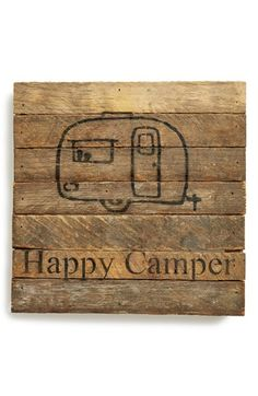 Second Nature By Hand 'Happy Camper' Repurposed Wood Wall Art available at #Nordstrom