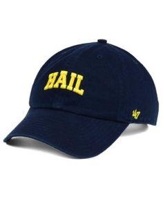 47 Brand Michigan Wolverines Clean Up Cap - Blue Adjustable. GorrasMichigan  ... bc5f5418da8
