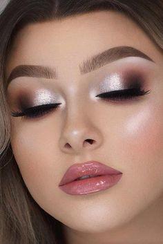 Eye Makeup Art, Smokey Eye Makeup, Glam Makeup, Eyeshadow Makeup, Makeup Tips, Makeup Ideas, Easy Eyeshadow, Bride Eye Makeup, Indian Eye Makeup