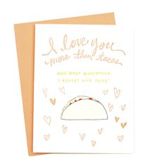 Now that is saying somthing! Remind your significant other just how much you love them with this quirky card.