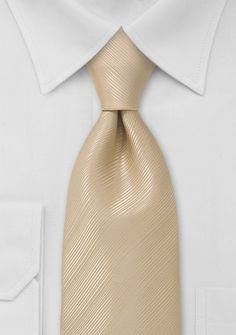 Formal Solid Champagne Tie  for him or grooms men