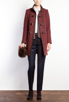 burgundy coat coat red item coat fashion must haves awesome style fashion favourites salons coats jackets wafa