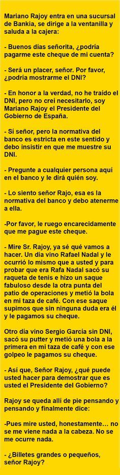 . Mariano Rajoy entra en una sucursal de Bankia… .