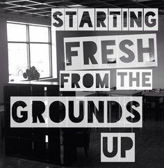 #TBT our first post 10/14/14, 9 weeks before open for business. #thankstoall #freshstarts #kaffeemahomet #kaffeemahometlovesyou