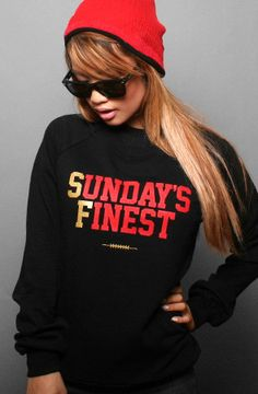 Adapt Advancers — Sunday's Finest (Women's Black/Gold Crewneck Sweatshirt)