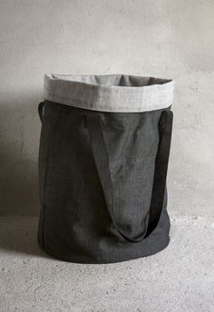 Menu Cotton Bag design by Norm Architects Cotton Bag is a 'Stand up bag' for smart storage and swift transportation. Use as a flexible hamper or laundry basket. Cotton Canvas, Leather ColorDark Grey L x W x H ShippingShips in 3 to 5 business days.