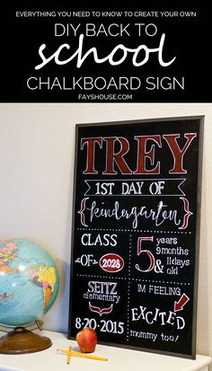 Fays House: DIY Back to School Chalkboard The Ultimate Party Week 62