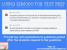 The Extra Energetic Educator: Using Edmodo For Test Prep extra energet, energet educ