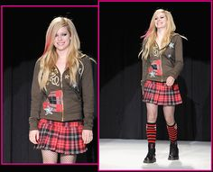 punk rock clothing - Avril Lavigne