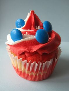 Another cute Fourth of July cupcake