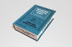 Where Chefs Eat: A Guide to Chefs Favourite Restaurants book design and custom typography by Kobi Benezri