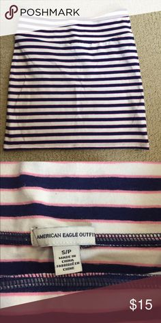American Eagle striped mini skirt American Eagle striped mini skirt- pink, white, and blue striped. Never worn. Size small. American Eagle Outfitters Skirts Mini